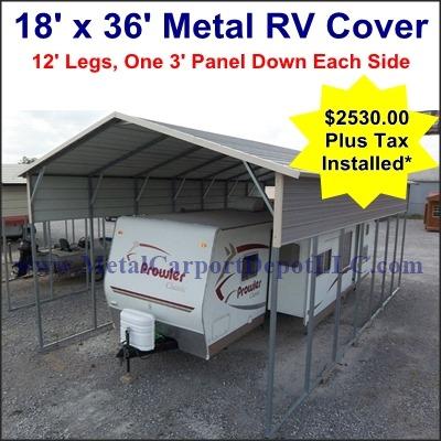 Metal Carport Depot Advertized Specials