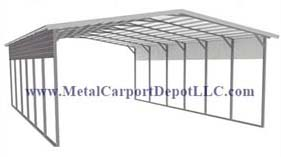 Boxed Eave Style Metal RV Covers
