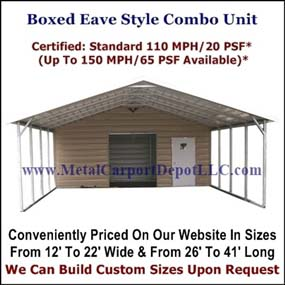 Boxed Style Carport With Storage
