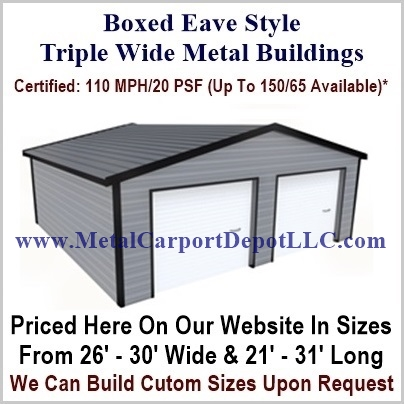 Boxed Eave Triple Wide Carport Pic