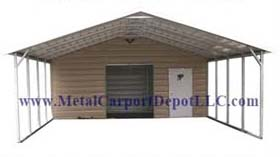 Boxed Eave Style Metal Combo Units