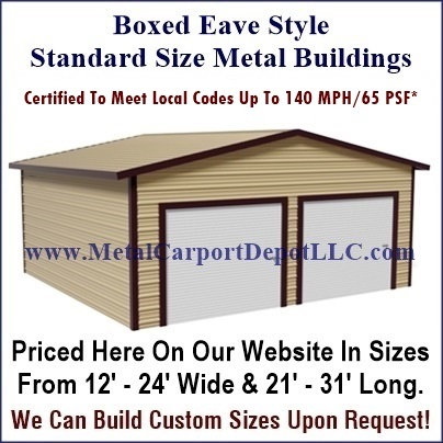 Fully enclosed metal buildings metal carport depot for Garages to build pricing