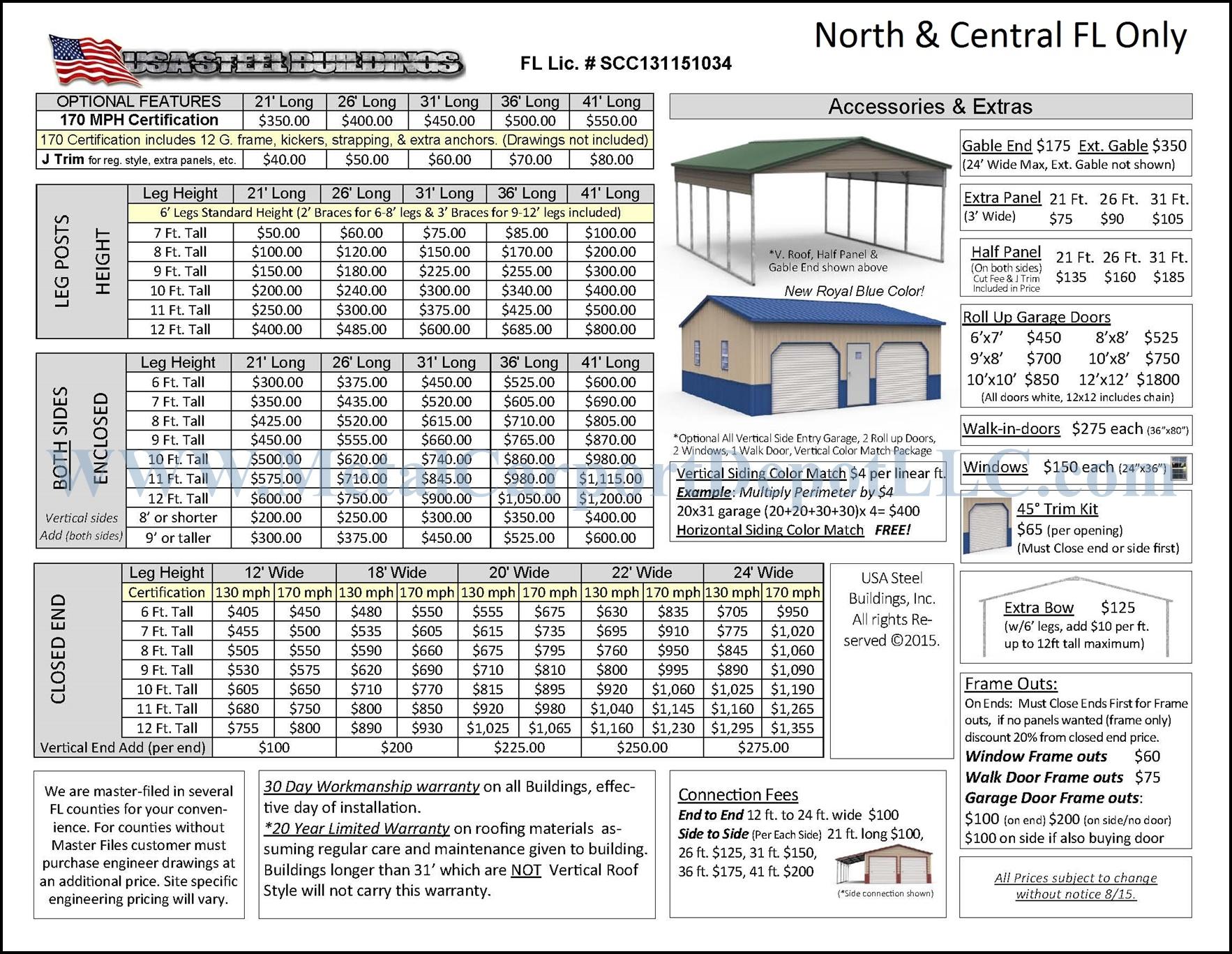 Metal Carport Amp Buildings Florida Pricing Metal