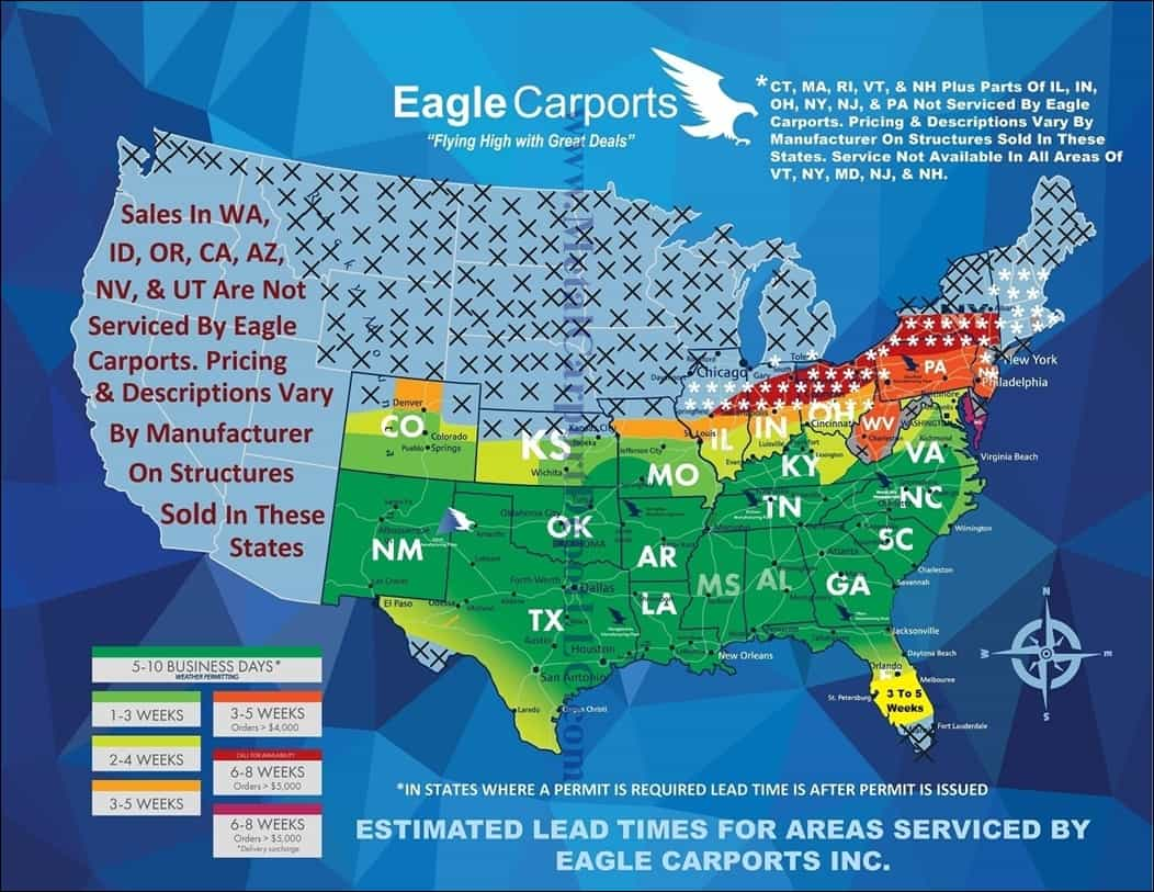 Answers To Faq About Metal Carports Buildings Eagle 4 Post Wiring Diagram Our Most Frequently Asked Questions