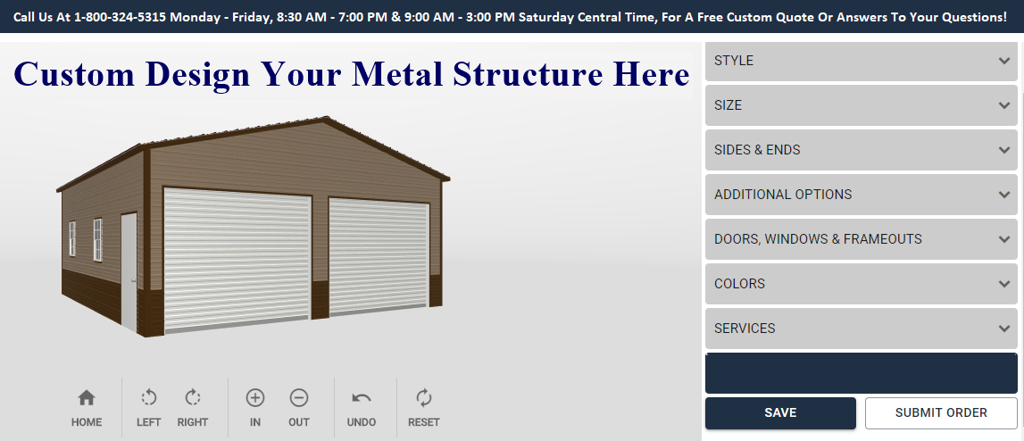 Metal Carport & Metal Building Color Simulator