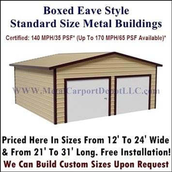 Boxed Eave Stlye Metal Buildings