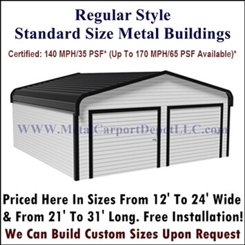 Regular Style Enclosed Metal Buildings For Sale
