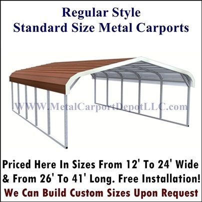 Exceptional Regular Style Metal Carports ...