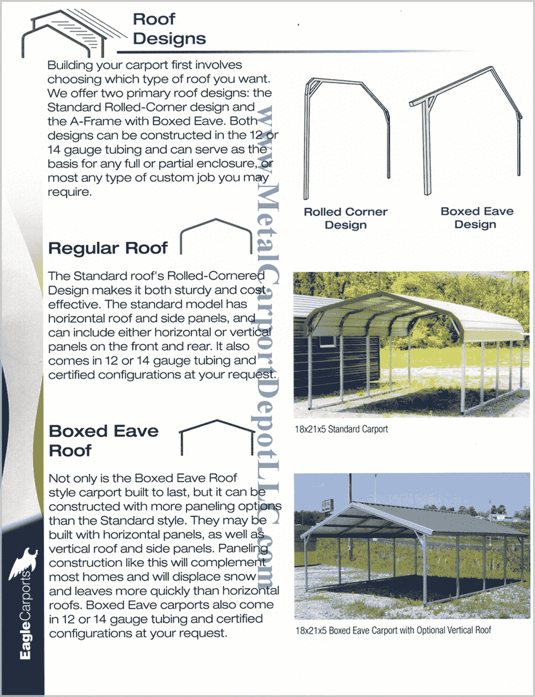 Metal Carport and Metal Building Design Information