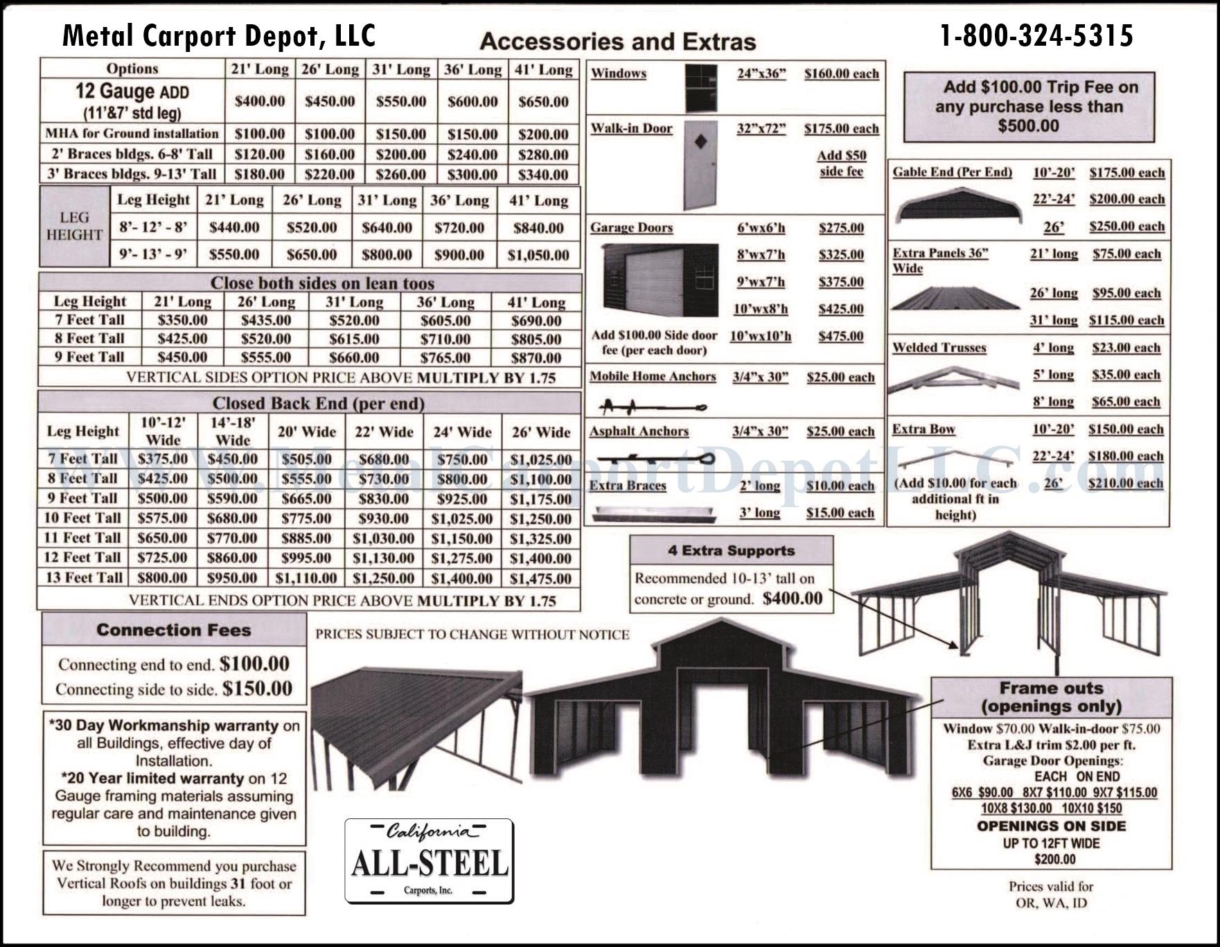 Metal Carport Depot Llc : Metal horse barns pole carport depot