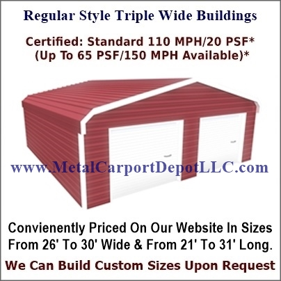 Eagle Regular Style Triple Wide Metal Building