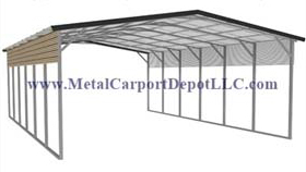 Vertical Roof Style Metal RV Covers