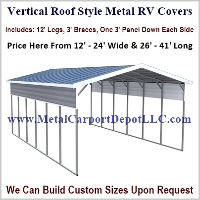 Metal Rv Covers Metal Carport Depot