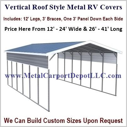 Metal Rv Covers Price Order Online Metal Carport Depot