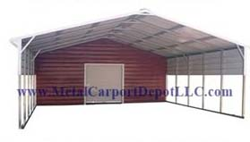 Vertical Roof Style Metal Combo Units
