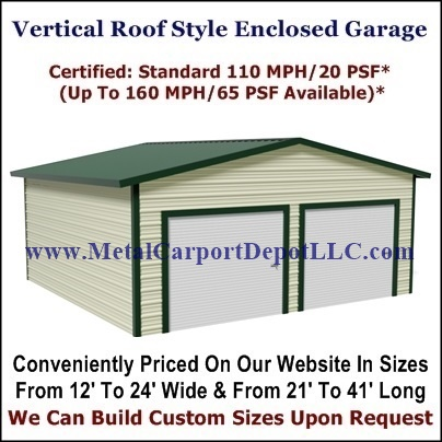 Eagle Vertical Roof Style Metal Buildings