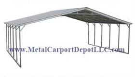 Vertical Roof Style T.W. Metal Carports