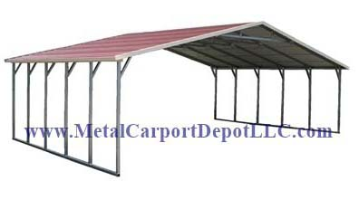 Boxed Eave Style T.W. Metal Carport