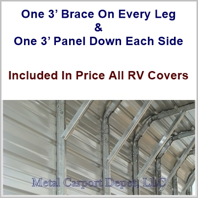 Center Braces On Metal Carport