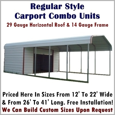 Carport storage combo units metal carport depot for Carport shop combo