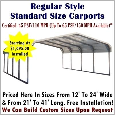 Regular Style Heavy Snow Load Carports