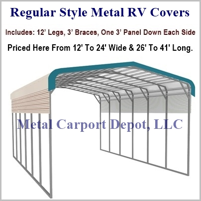 Regular Style Metal RV Cover Pic