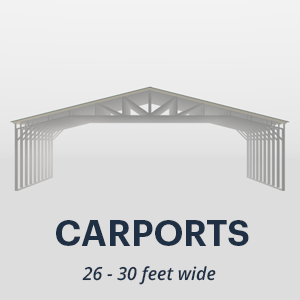 26' x 30' Wide Metal Carport