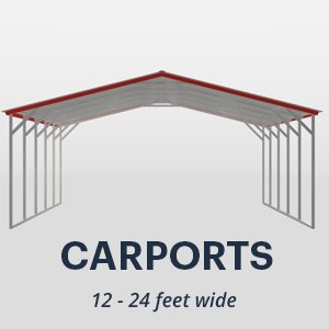12' x 24' Wide Metal Carport