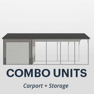 Carport with Storage Combo