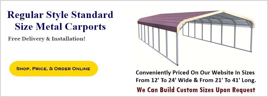 Metal Carport Depot Llc : Regular style metal carport prices